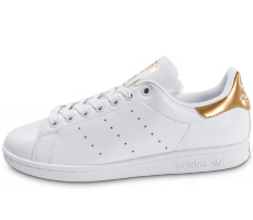 Chaussures adidas Stan Smith W blanc et or
