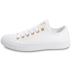 Chaussures Converse Chuck Taylor All Star OX blanche et or