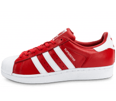 Chaussures adidas Superstar Cuir rouge et blanche