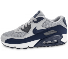 Chaussures Nike Air Max 90 Essential grise et bleue