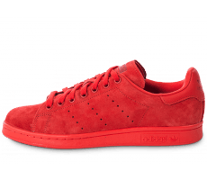 Chaussures adidas Stan Smith Suede monochrome rouge