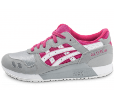 Chaussures Asics Gel Lyte III junior rose et blanche