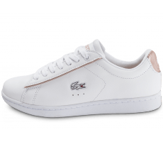 Chaussures Lacoste Carnaby EVO blanche et rose perle