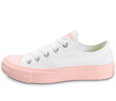 Chaussures Converse Chuck Taylor All Star 2 OX W blanche et rose