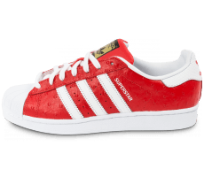 Chaussures adidas Superstar Animal rouge