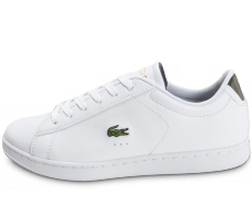 Chaussures Lacoste Carnaby EVO blanche et kaki
