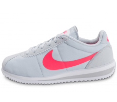 Chaussures Nike Cortez Ultra Junior grise et rose