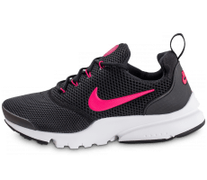 Chaussures Nike Presto Fly Junior noire et rose