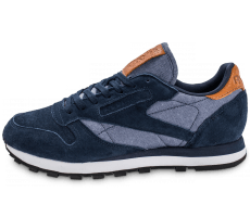 Chaussures Reebok Classic Leather Chambray bleu marine