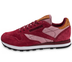 Chaussures Reebok Classic Leather Chambray bordeaux