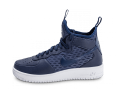 Chaussures Nike Air Force 1 UltraForce Mid bleue