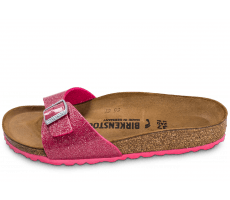 Chaussures Birkenstock Madrid Paillette rose