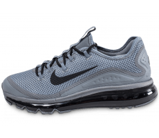 Chaussures Nike Air Max More grise et noire