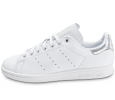 Chaussures adidas Stan Smith blanche et argent