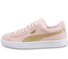 Chaussures Puma Suede Junior rose et or