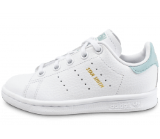 Chaussures adidas Stan Smith blanche et bleu turquoise