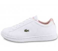 Chaussures Lacoste Carnaby Junior blanche et rose