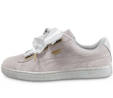 Chaussures Puma Suede Heart Satin grise