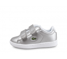 Chaussures Lacoste Carnaby Evo Bébé argent