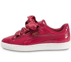 Chaussures Puma Basket Heart Patent rouge