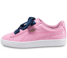 Chaussures Puma Basket Heart Patent rose