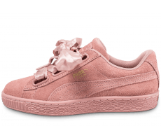 Chaussures Puma Suede Heart Satin II rose