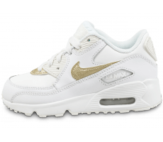 Chaussures Nike Air Max 90 LTR Enfant blanche et or