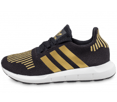 Chaussures adidas Swift Run W noire et or