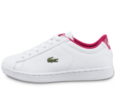 Chaussures Lacoste Carnaby Evo 317 Junior blanche et rose