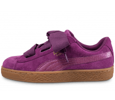 Chaussures Puma Suede Heart snake purple