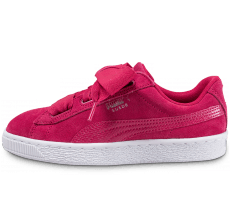 Chaussures Puma Suede Heart Snake rose
