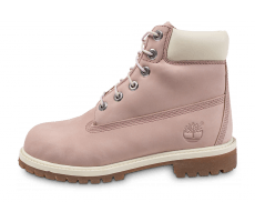 Chaussures Timberland 6-inch Premium Boots Junior Rose et Blanche