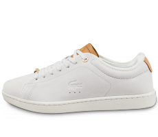 Chaussures Lacoste Carnaby Evo 317 W blanche et beige