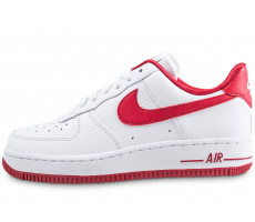 Chaussures Nike Air Force 1 Low blanche et rouge