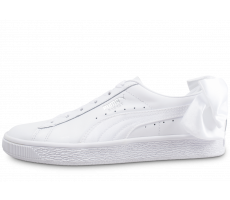 Chaussures Puma Basket Bow blanche