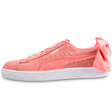 Chaussures Puma Basket Suede Bow corail
