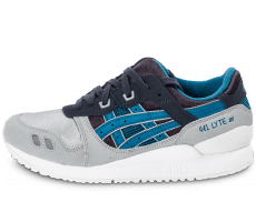 Chaussures Asics Gel Lyte III junior bleue et grise