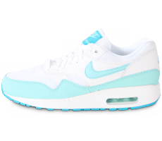 Chaussures Nike AIR MAX 1 ESSENTIAL BLANCHE TURQUOISE