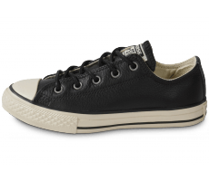 Chaussures Converse Chuck Taylor All Star low enfant cuir noir