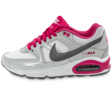 Chaussures Nike Air Max Command Junior grise et rose