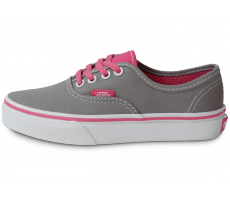 Chaussures Vans AUTHENTIC GRISE ROSE ENFANT