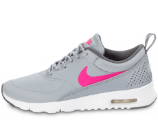 Chaussures Nike Air Max Thea Junior grise et rose