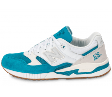 Chaussures New Balance M530 AA Gumsole blanche et turquoise