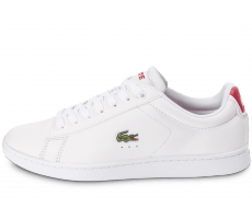 Chaussures Lacoste Carnaby EL blanche et rouge