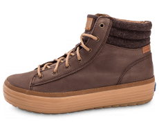 Chaussures Keds high Rise Leather Wool marron