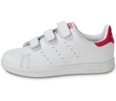 Chaussures adidas Stan Smith rose et blanche enfant