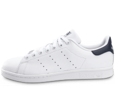 Chaussures adidas Stan Smith Woven blanche et bleue