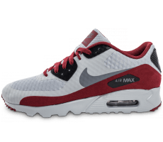 Chaussures Nike Air Max 90 Ultra Essential grise et bordeaux