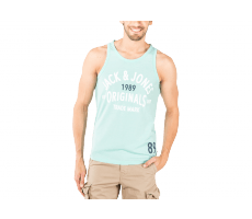 Textiles Jack & Jones Debardeur Athletic Top Tank vert eau
