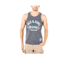 Textiles Jack & Jones Debardeur Athletic Top Tank gris anthracite